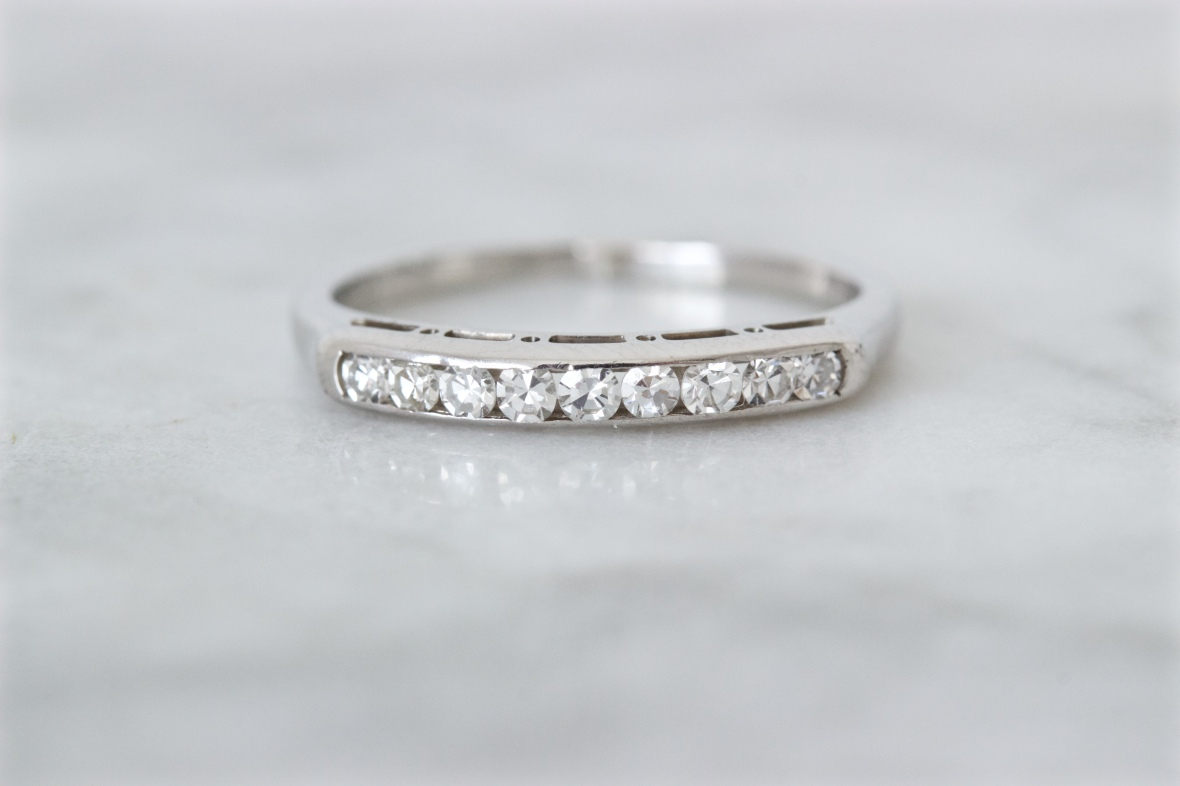 wedding white ring band stone a simple sold bands and diamond jaffe gold set center engagement separately